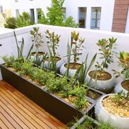 Lawn Garden Balcony Design Ideas Courtyard