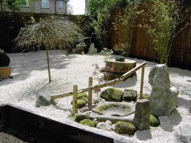 Lawn Garden Cool Japanese Rock Design Bamboo