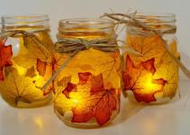 Leaf Mason Jar Crafts Love