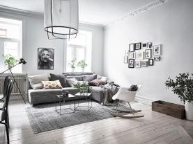 Light Cool Scandinavian Apartment Decorating Ideas