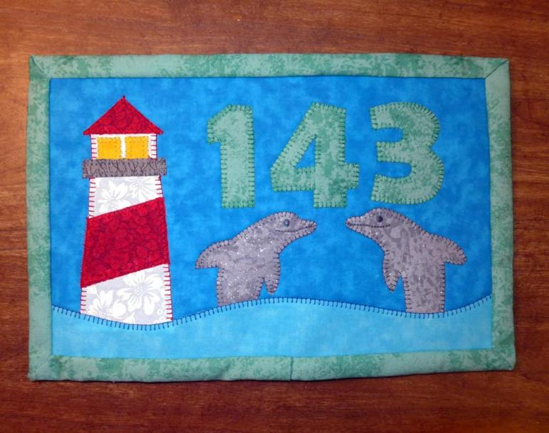 Lighthouse Mug Rug Summer Mini Quilt Wall Decor