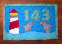 Lighthouse Mug Rug Summer Mini Quilt Wall Decor