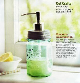 Little House City Mason Jar Soap Dispenser