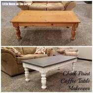 Little House Corner Chalk Paint Coffee Table Makeover