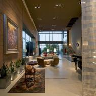 Living Room Art Rug High Ceiling Massive Modern