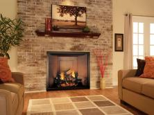 Living Room Attractive Family Corner Fireplace