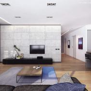 Living Room Minimalist Apartment