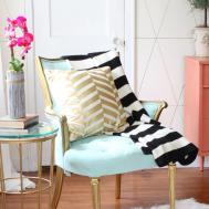 Living Room Refresh Jewel Tones Makeover Black White