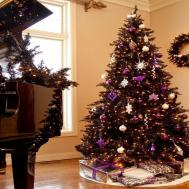 Living Room Themes Black Gold Christmas