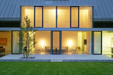 Living Space Lighting Glass Walls Terrace Llmann