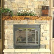 Log Mantels Rustic Fireplace