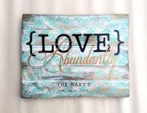 Love Abundantly Pallet Art Sign Handpainted Mint