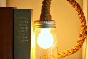 Love Junk Make Mason Jar Rope Light Vintage