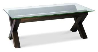 Lyon Walnut Glass Coffee Table Oak Furniture Solutions