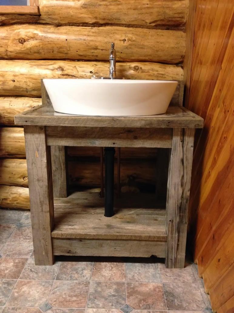 Macgirlver Reclaimed Wood Bathroom Vanity