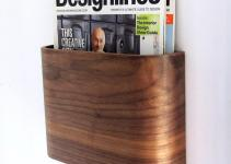 Magazine Rack Wall Hung Wooden Holder