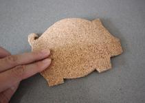 Make Adorable Inexpensive Pig Shaped Coasters