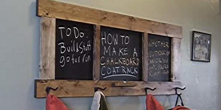 Make Awesome Chalkboard Coat Rack Diy Joy