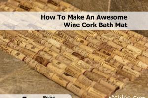 Make Awesome Wine Cork Bath Mat