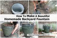 Make Beautiful Homemade Backyard Fountain