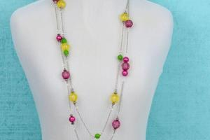 Make Bright Bead Chain Necklaces Blitsy