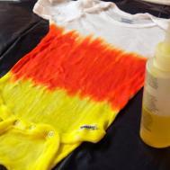 Make Candy Corn Tie Dye Onesie