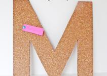 Make Cork Letter Tack Board
