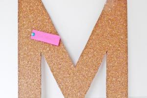 Make Cork Letter Tack Board