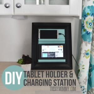 Make Counter Top Phone Charging Station Tablet Holder
