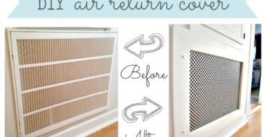 Make Decorative Air Return Vent Cover Hometalk
