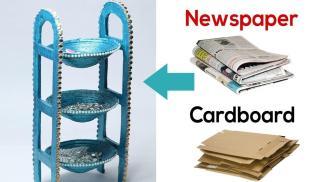 Make Desk Organizer Newspaper Cardboard