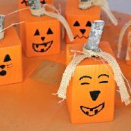Make Easy Wood Pumpkin Jack Lantern