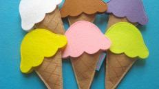 Make Felt Ice Cream Scoop Set Diy Crafts