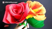 Make Giant Crepe Paper Rose Flower Diy Valentine