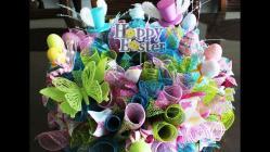 Make Gorgeous Deco Mesh Easter Centerpiece
