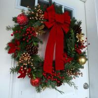 Make Gourmet Homemade Christmas Wreath Simple