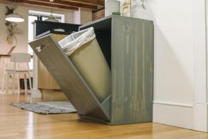 Make Hidden Trash Can Cabinet Danmade Watch