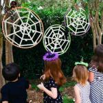 Make Kids Halloween Spiderweb Game Diy