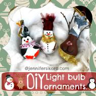 Make Light Bulb Christmas Ornaments Jen Around