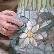 Make Mosaic Flower Pot Tracey Cartledge Artist