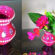 Make Newspaper Flower Vase Diy Crafts