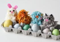 Make Pom Poms Silly Spring Animal Kid
