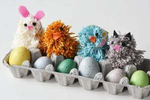 Make Pom Poms Silly Spring Animal Kid