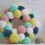 Make Spring Pom Wreath Hobbycraft Blog