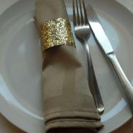 Make Toilet Paper Roll Glitter Napkin Rings Diy