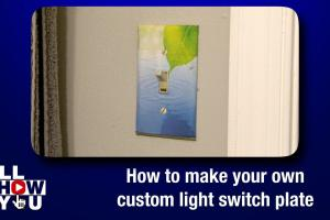 Make Your Own Custom Light Switch Plate