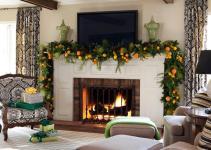 Mantel Christmas Garland Ideas Interior Design
