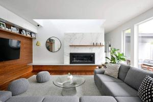 Marble Wood Modernity Refined House Addition Ottawa