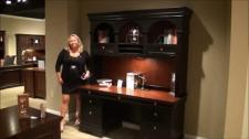 Marlowe Home Office Credenza Desk Hutch Wynwood