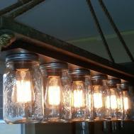 Mason Jar Light Edison Hanging Lamp